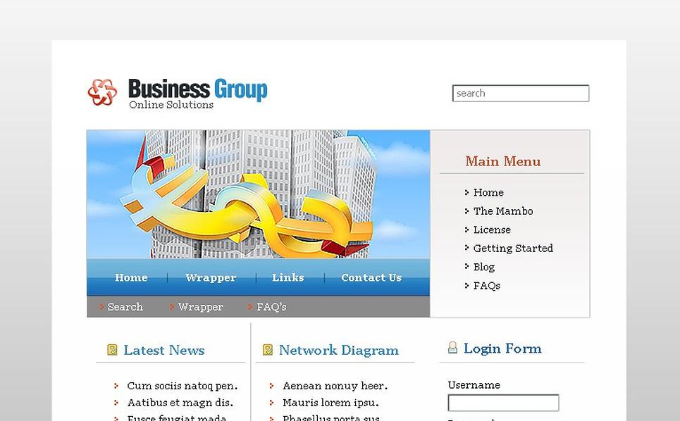 Business Mambo Template New Screenshots BIG