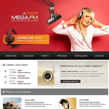 Radio station free website templates for free download about (3 ...