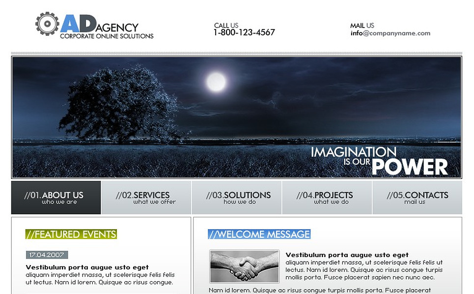 Advertising Agency Flash Template New Screenshots BIG