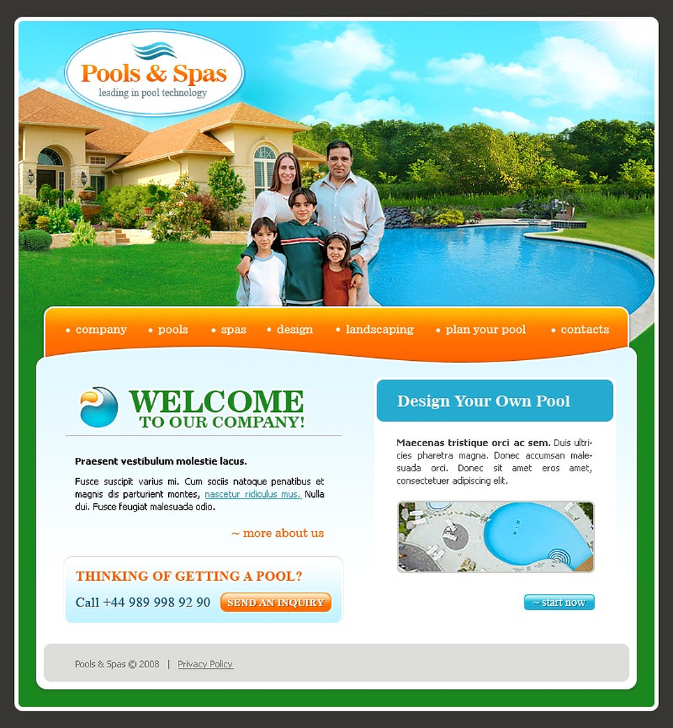 Exterior design website template 17969 for Exterior design website templates