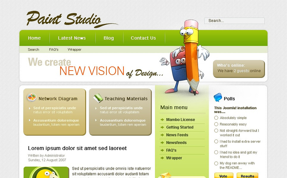 Design Studio Mambo Template New Screenshots BIG
