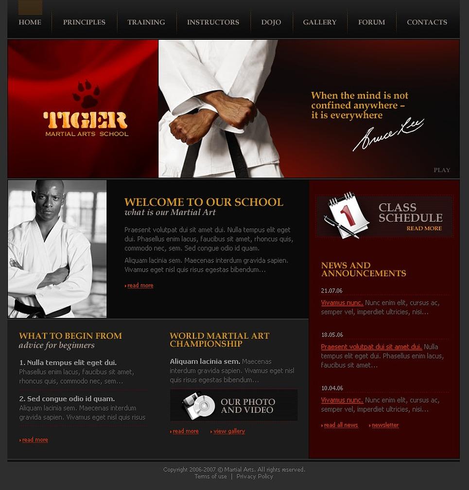Martial Arts SWiSH Template New Screenshots BIG
