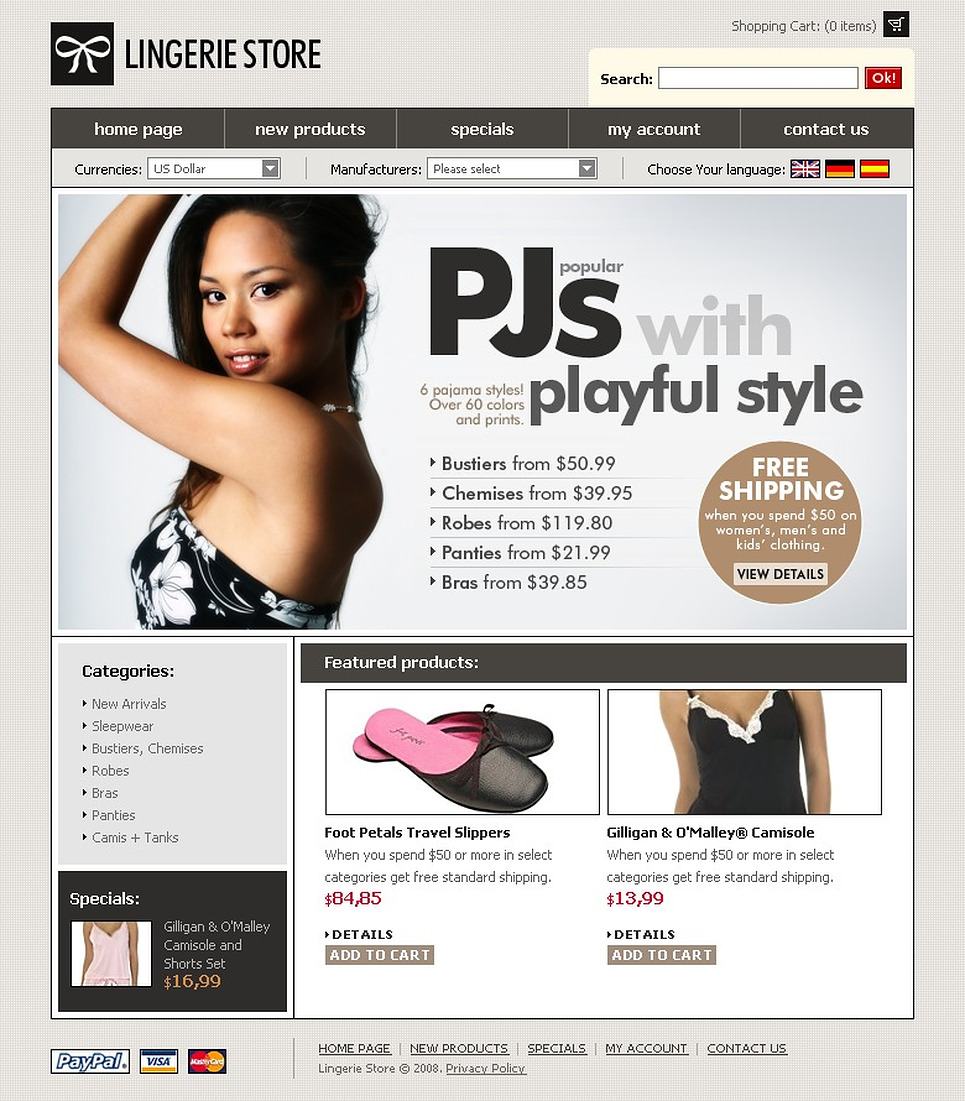 The Playful Lingerie Template