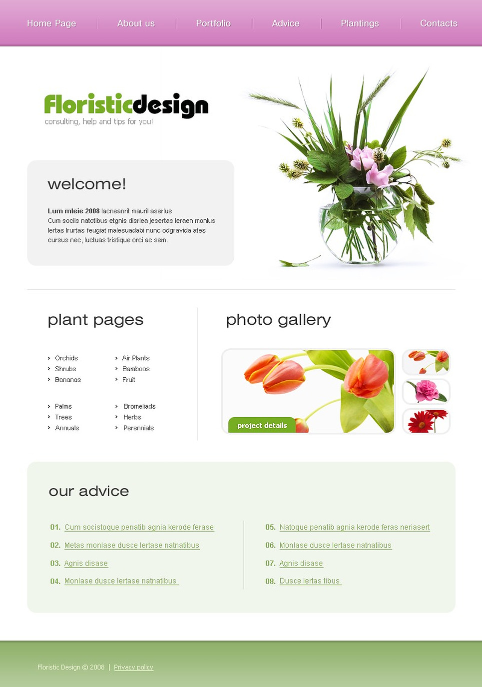 Flowers Website Template New Screenshots BIG