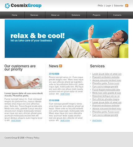 Website Template #18379