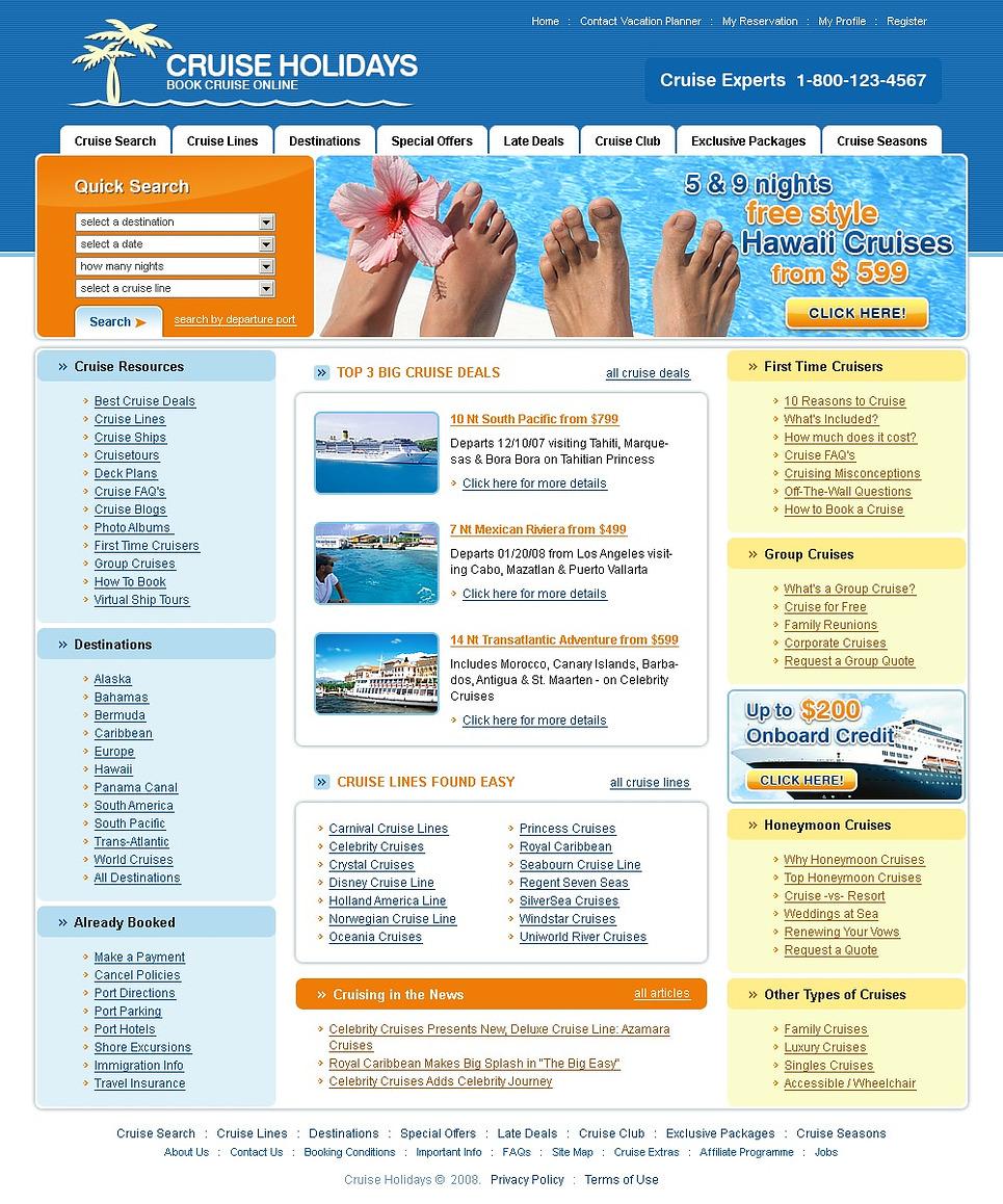 Travel Agency Website Template 18384
