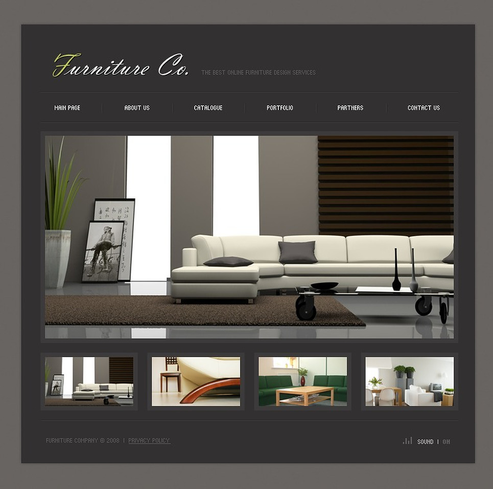 Furniture flash template 18532 for Home design sites