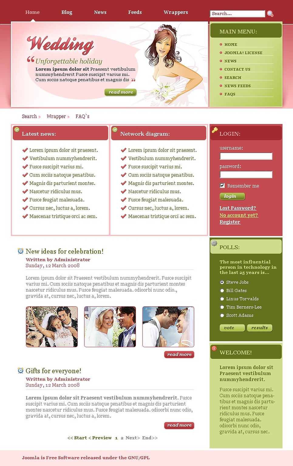 Wedding Album Joomla Template New Screenshots BIG