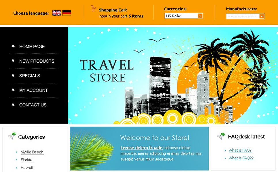 Travel Store CRE Loaded Template New Screenshots BIG