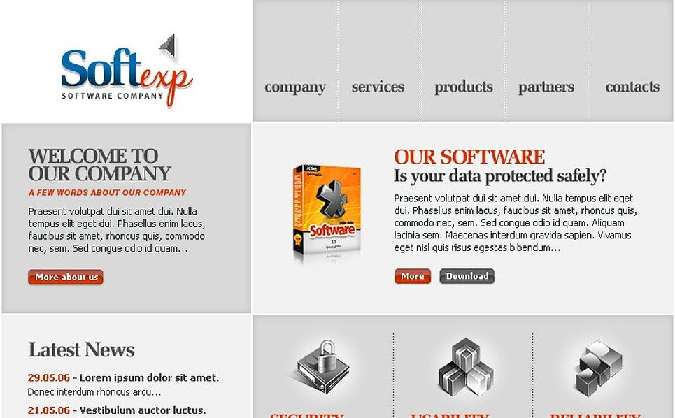 Software Company SWiSH Template New Screenshots BIG