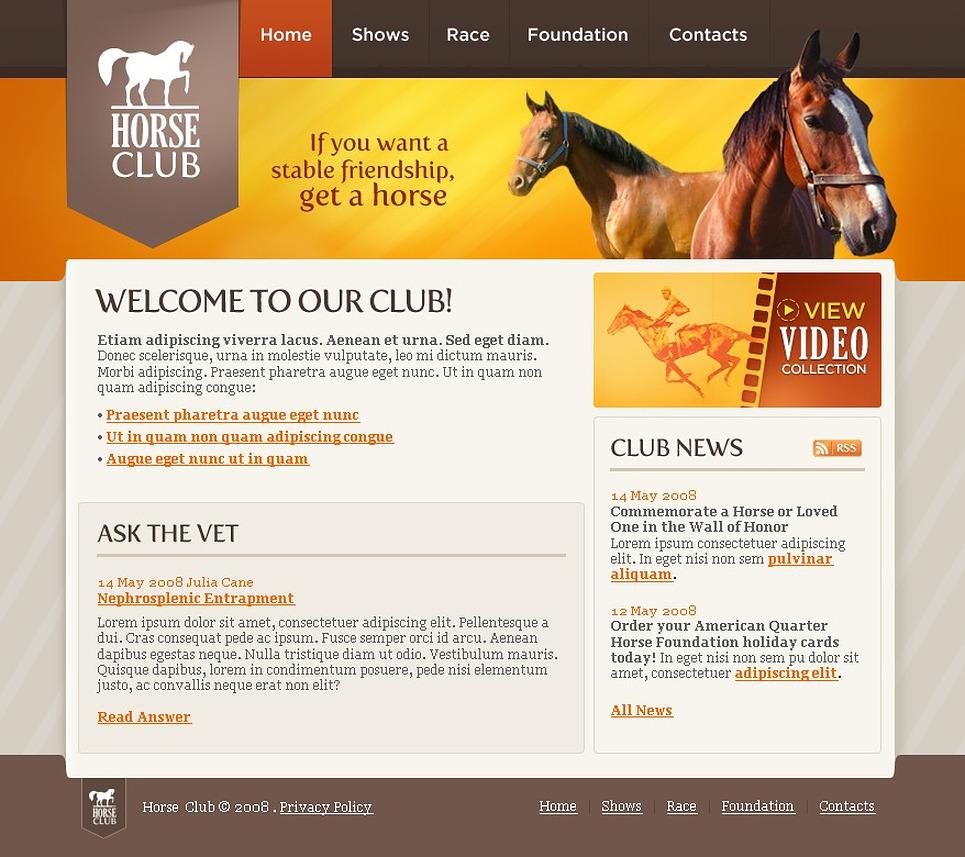 Horse Racing Website Template 18788