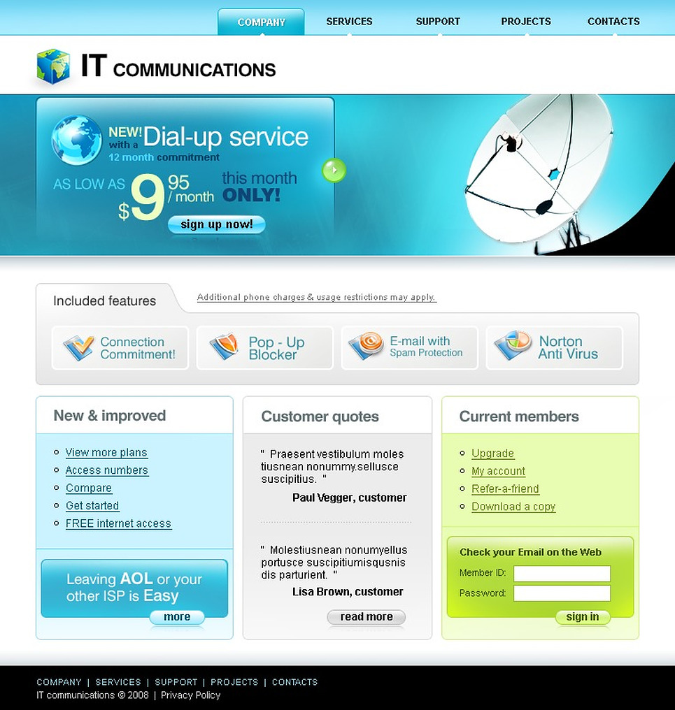 ISP Website Template New Screenshots BIG