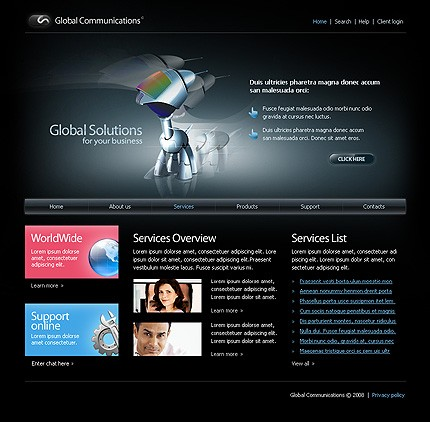 Website Template #18924