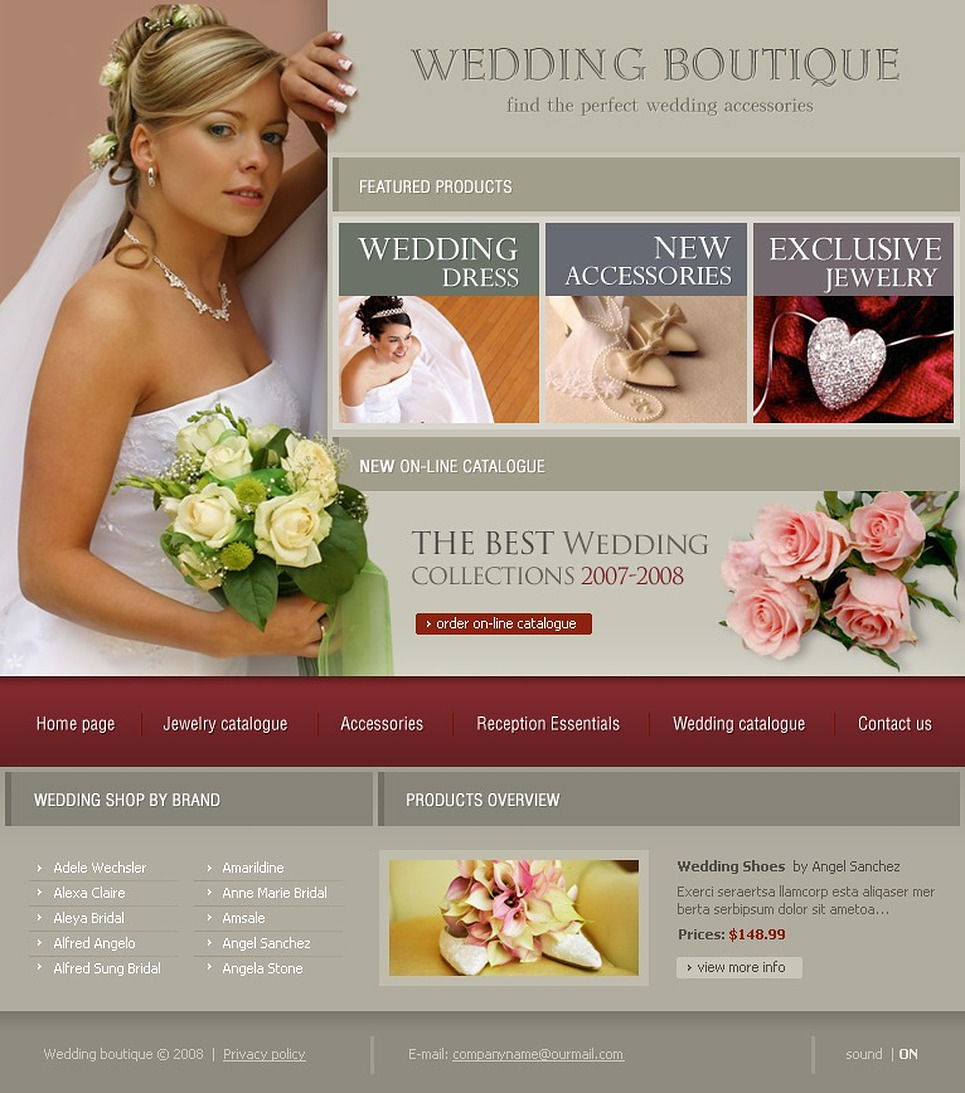 Wedding Shop Flash Template New Screenshots BIG