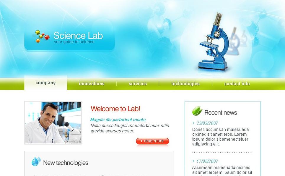 Science Website Template New Screenshots BIG