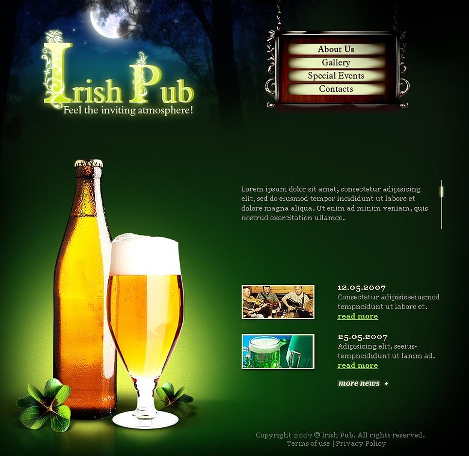 Pub Flash Template New Screenshots BIG