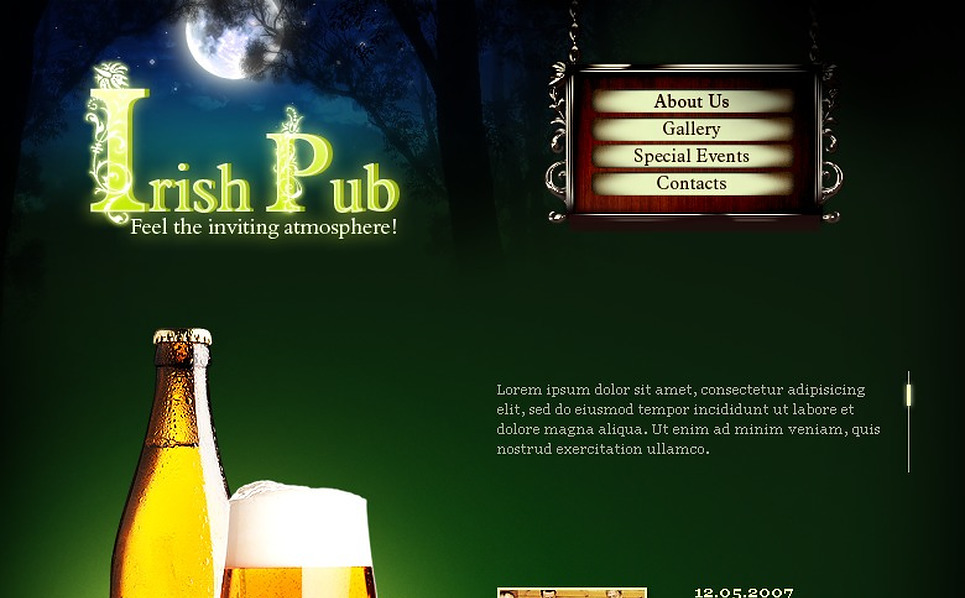 Pub Flash Template New Screenshots BIG