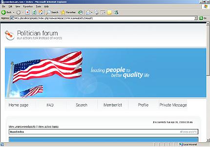 Заказ создания сайта или интернет магазина на тему Политика, на основании шаблона №19233.