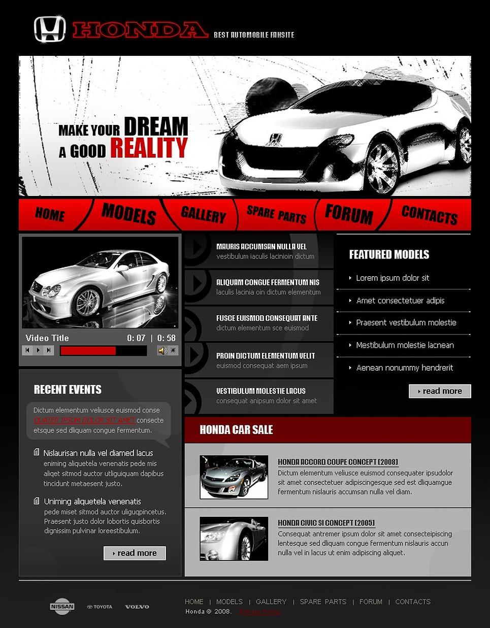 car dealer website template 19264. Black Bedroom Furniture Sets. Home Design Ideas