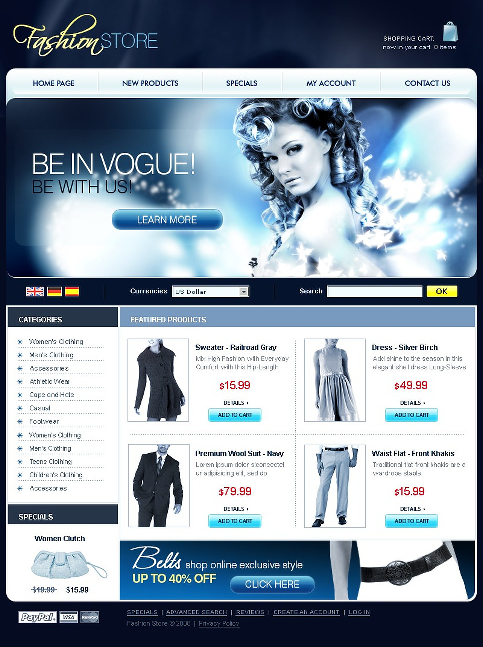 OsCommerce Theme Of The Hassle Frees Trend Template