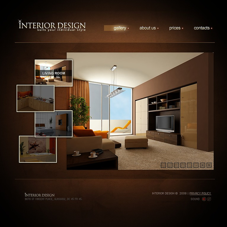 Interior Design Flash Template 19551