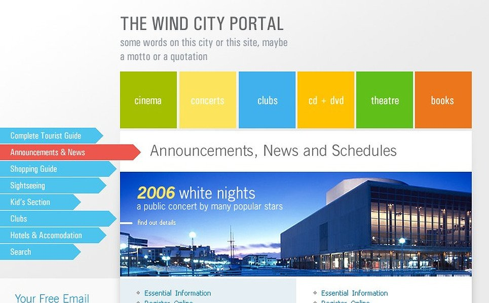 City Portal SWiSH Template New Screenshots BIG