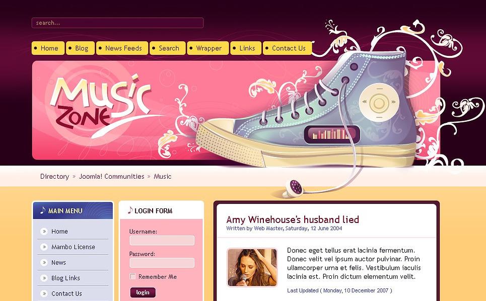 Music Portal Drupal Template New Screenshots BIG