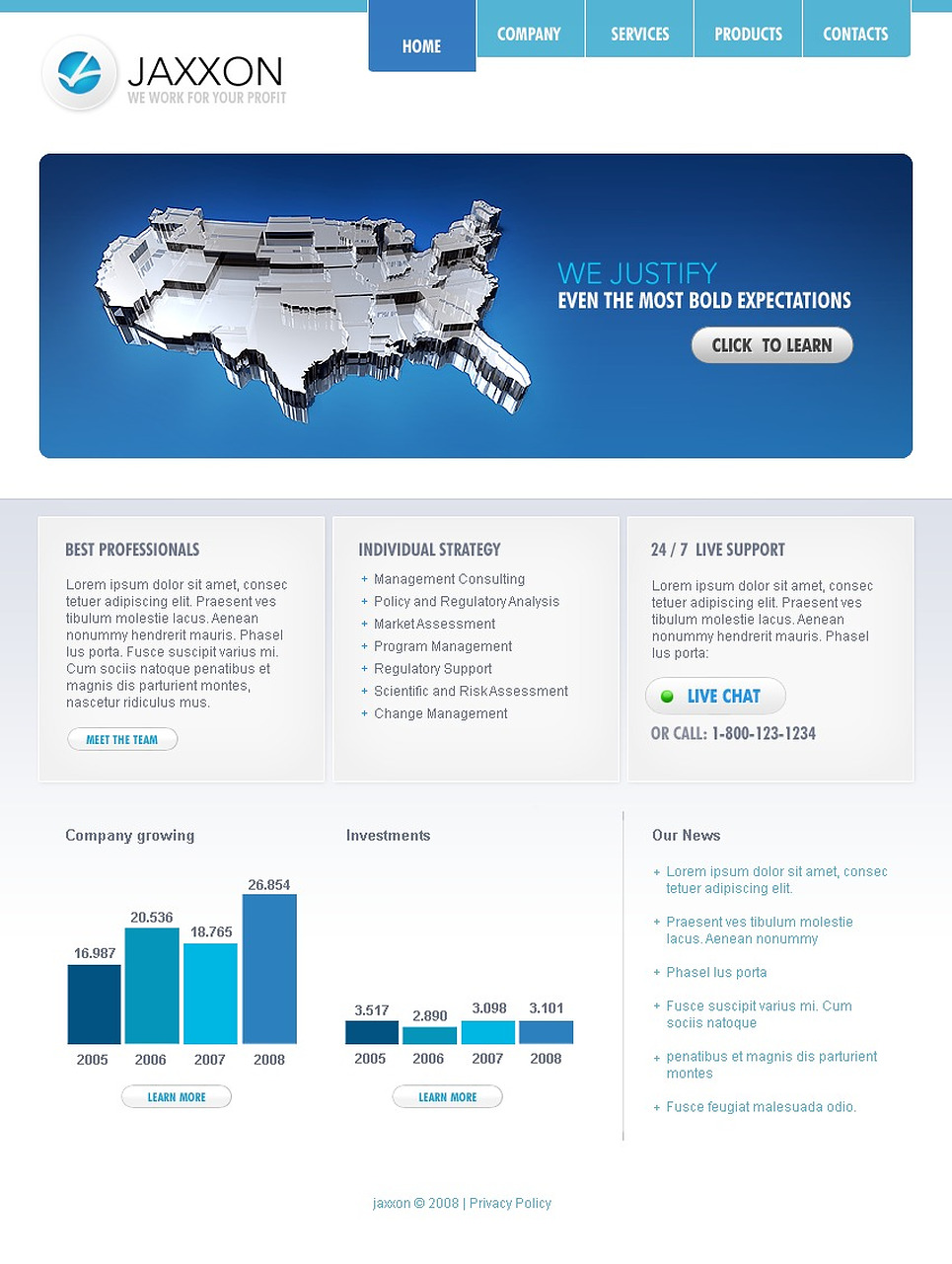 Consulting website template 19685 for Consulting website