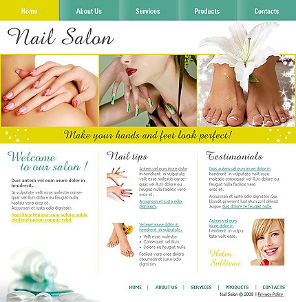 Beauty Supplies Wholesale on Website Templates   Template  19760   Nails Beauty Fashion Salon