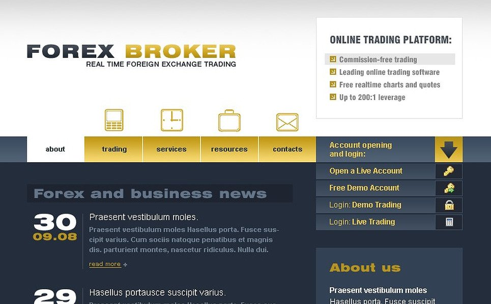Investment Company Website Template New Screenshots BIG