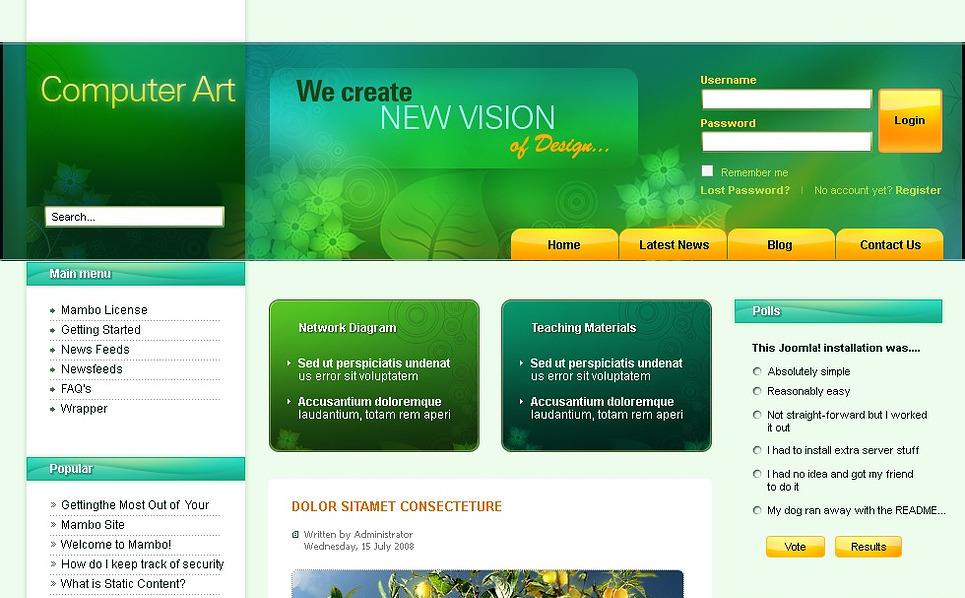 Art Web Joomla Template New Screenshots BIG