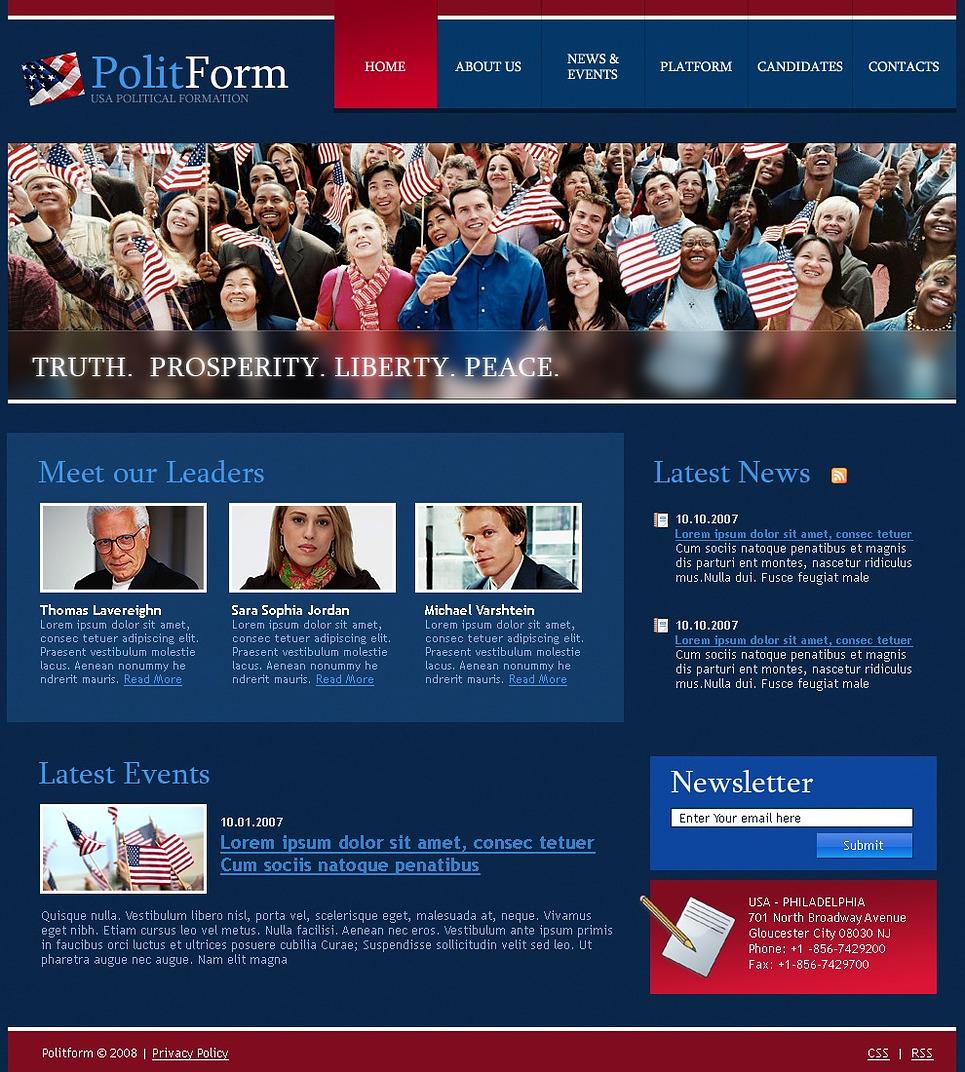 Political Party Website Template - Web Design Templates, Website ...