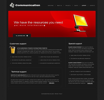 Website Template #19951