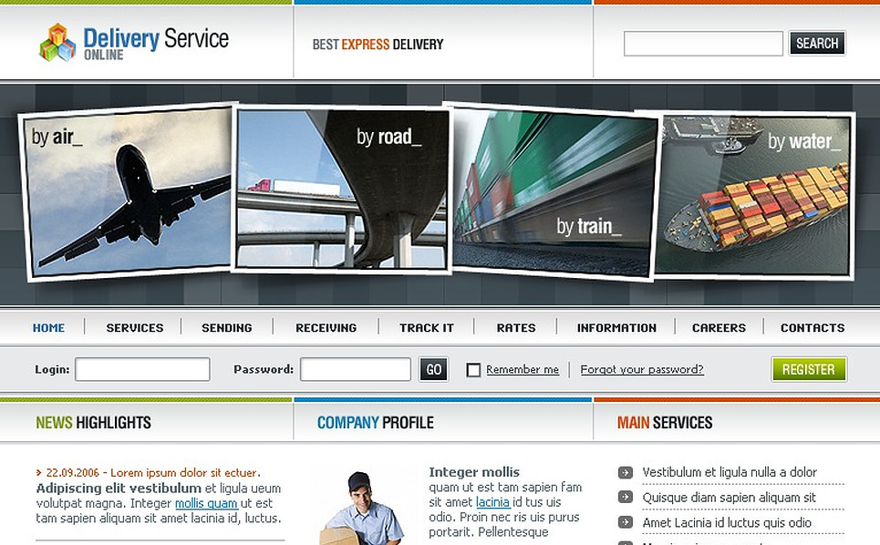 Delivery Services SWiSH Template New Screenshots BIG