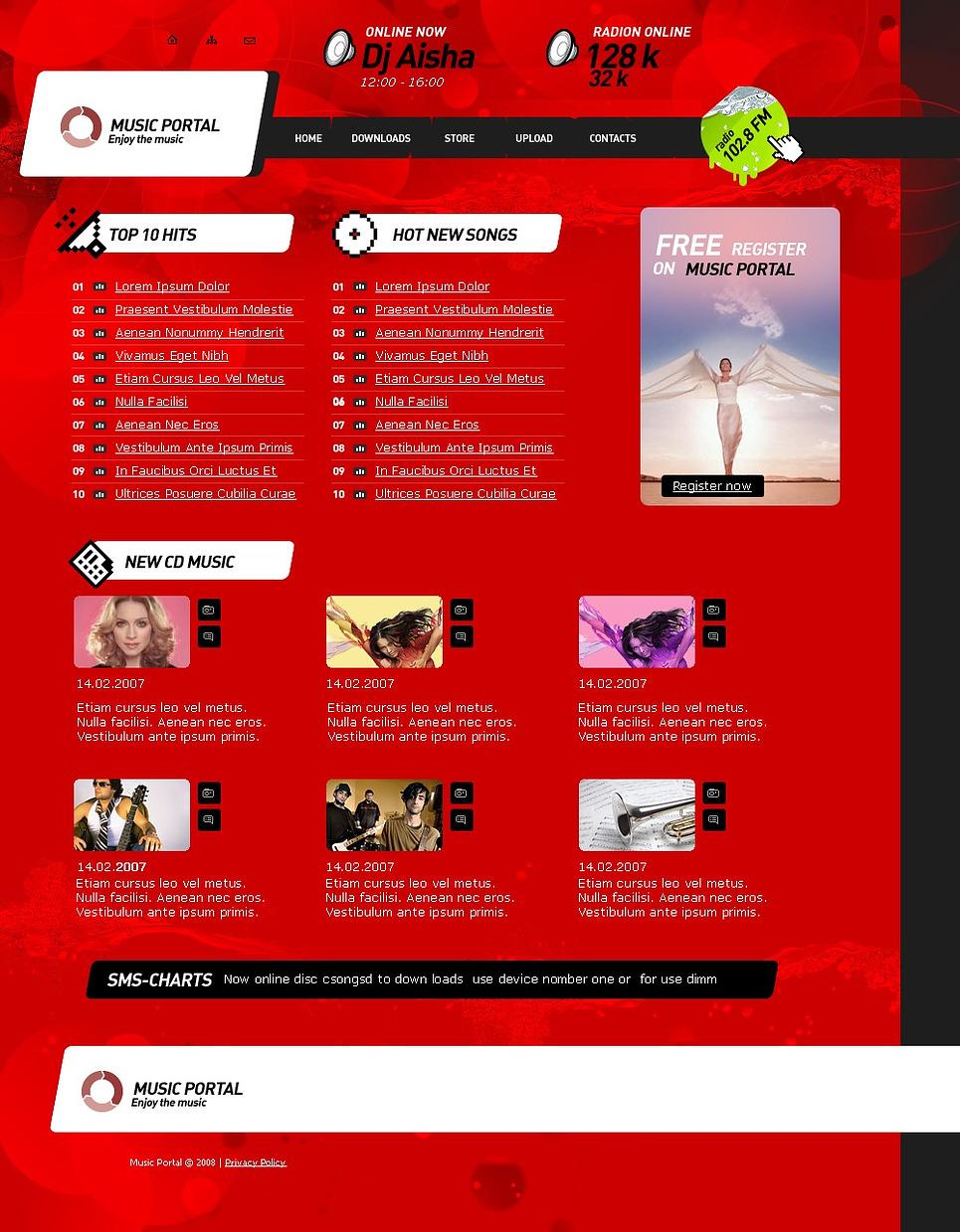 Music Portal Website Template New Screenshots BIG