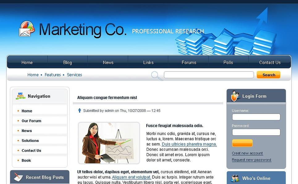 Marketing Agency Drupal Template New Screenshots BIG