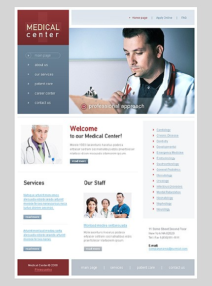 Website Template #20044