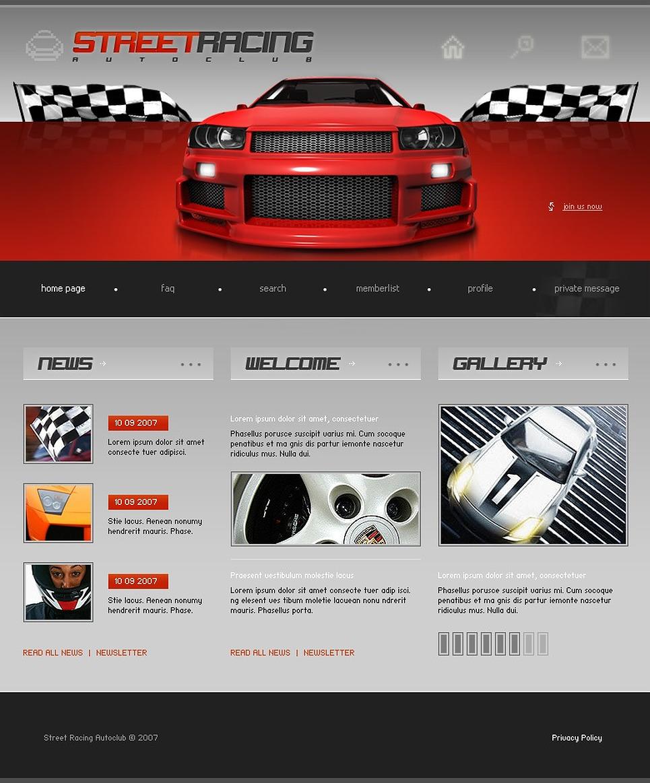 Car Racing PhpBB Template New Screenshots BIG