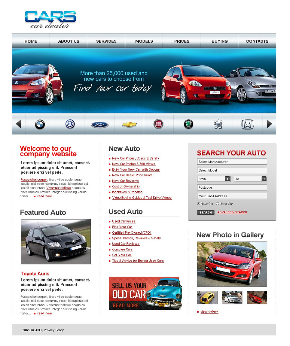 Auto Websites 22 Best Premium Car Website Templates Free Premium