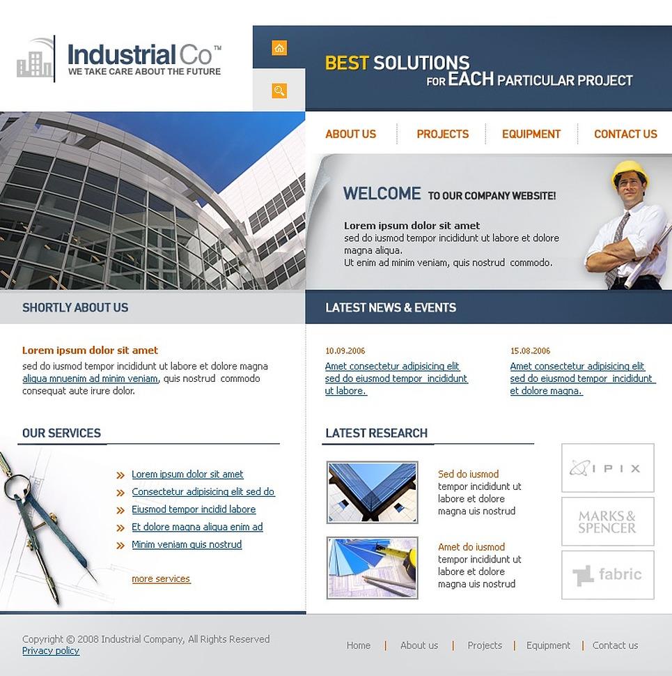 Industrial SWiSH Template New Screenshots BIG