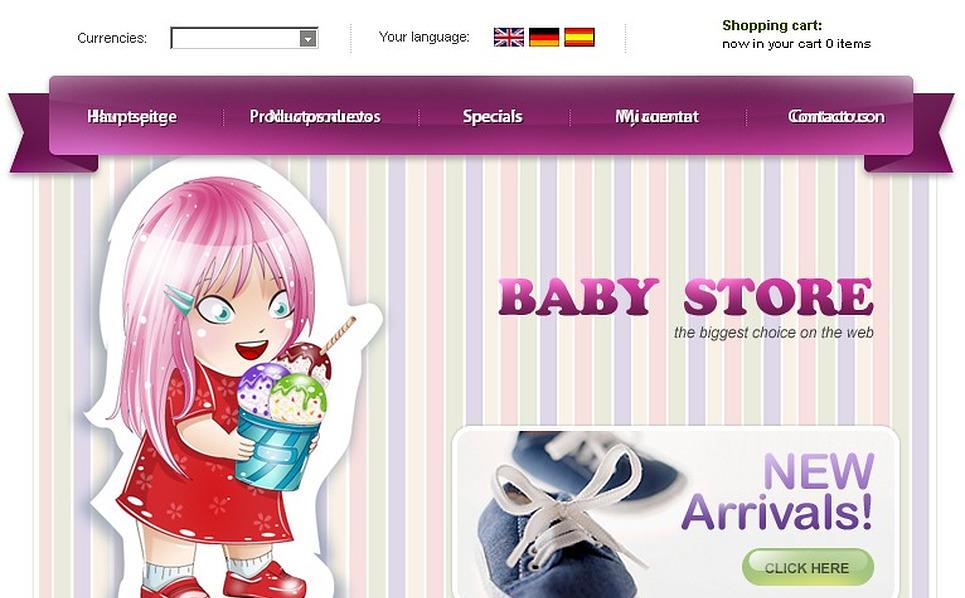 Baby Store OsCommerce Template New Screenshots BIG