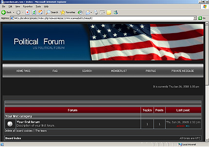 Заказ создания сайта или интернет магазина на тему Политика, на основании шаблона №20229.