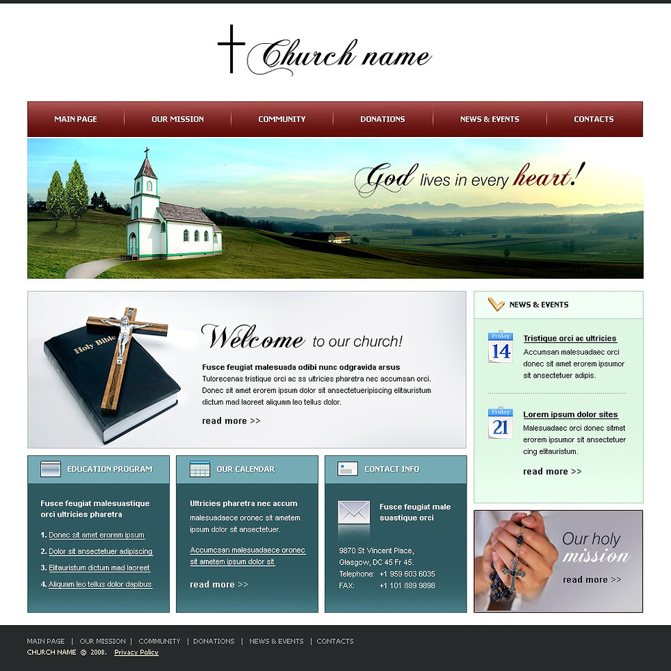 Christian website template web design templates website An website