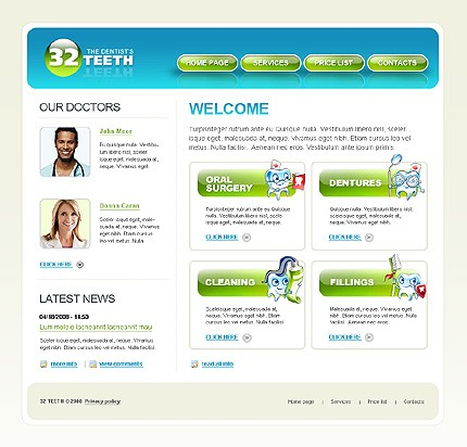 Website Template #20312