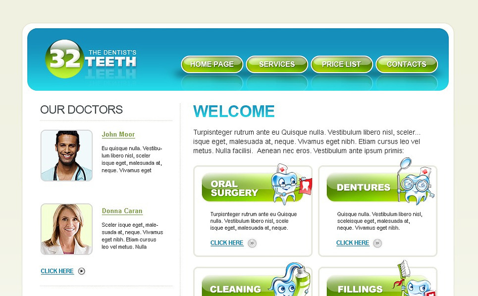 Dentistry Website Template New Screenshots BIG