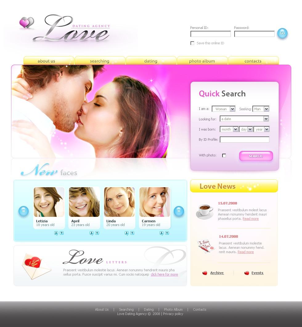 dating website template 20315. Black Bedroom Furniture Sets. Home Design Ideas