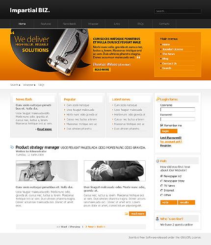 Заказ создания сайта или интернет магазина на тему Бизнес, 3 цвета, на основании шаблона №20318.