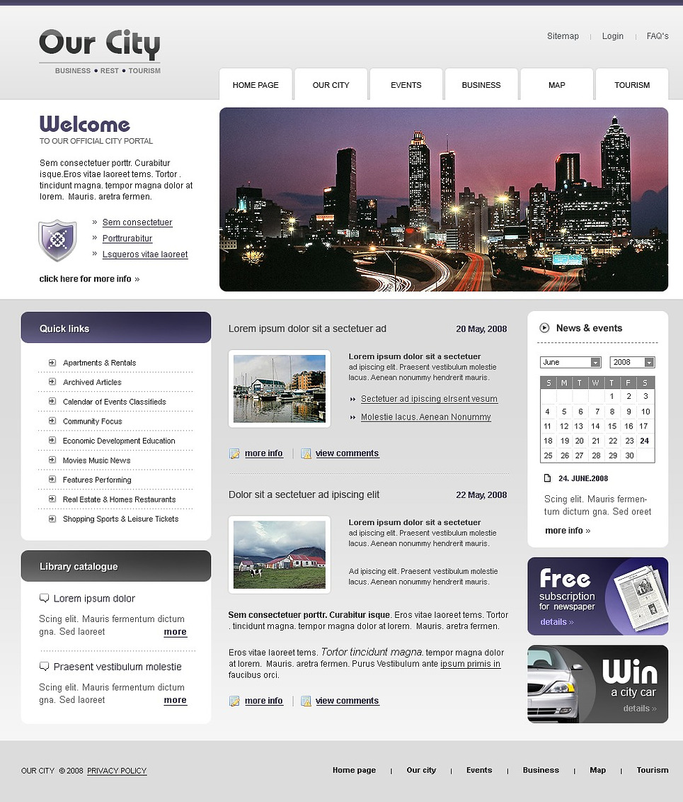 City Portal Website Template 20355