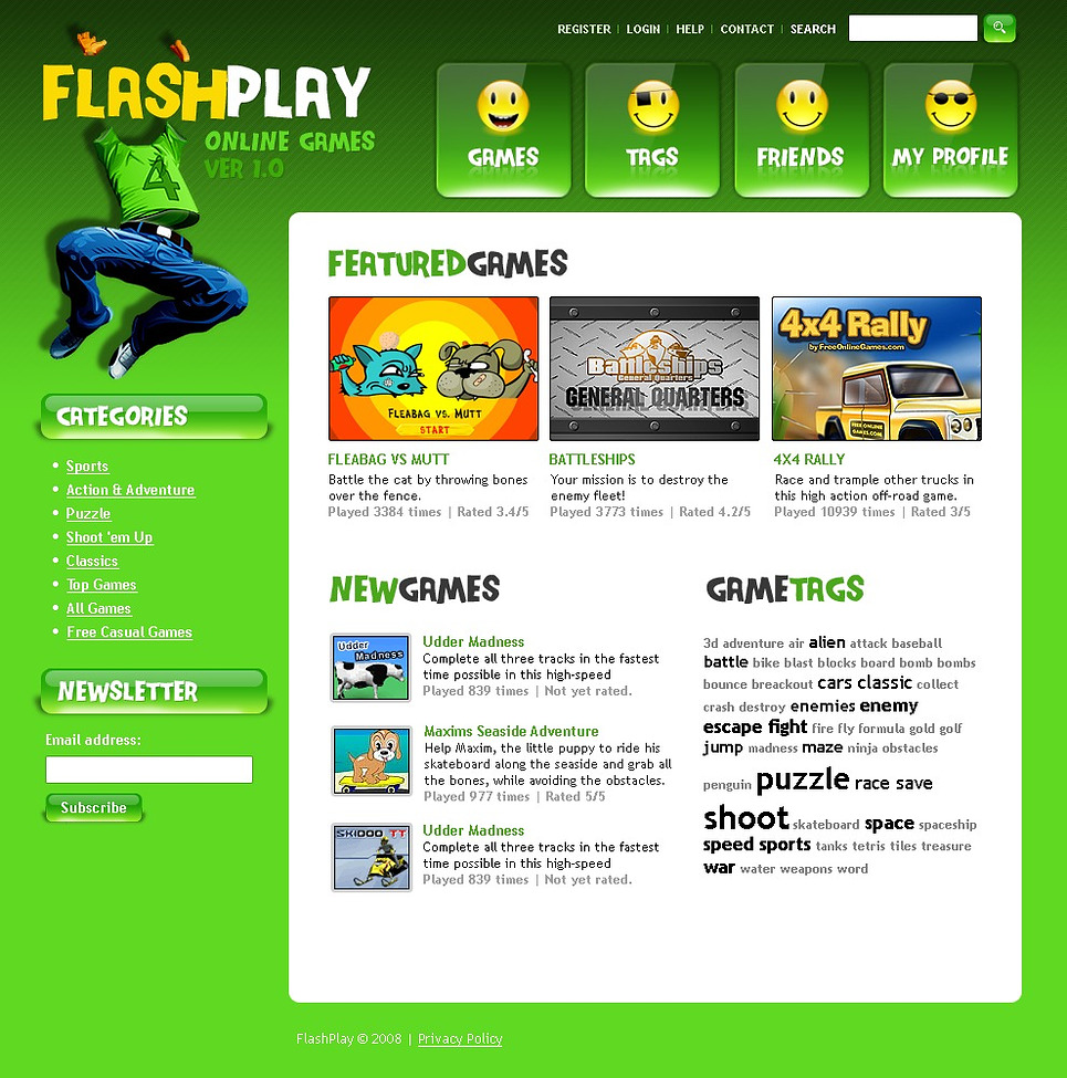 flash games website template web design templates website templates download flash games. Black Bedroom Furniture Sets. Home Design Ideas