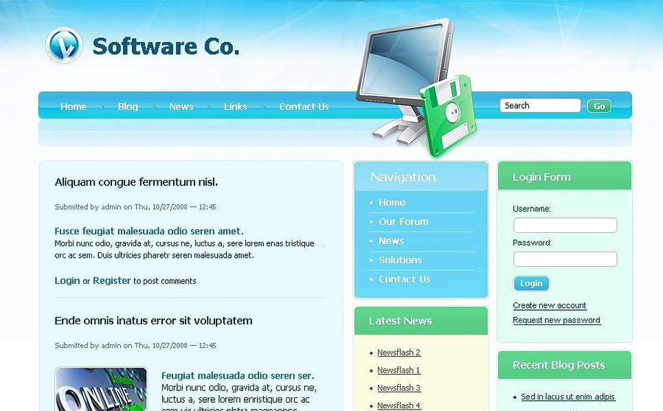 Software Company Drupal Template New Screenshots BIG